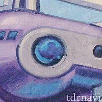 レールウェイ壁画:ヨット船の窓