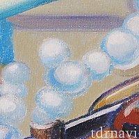 レールウェイ壁画:潜水列車の泡
