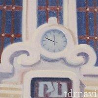 レールウェイ壁画:駅舎の時計