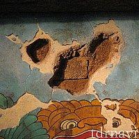 インディ・ジョーンズ遺跡の壁