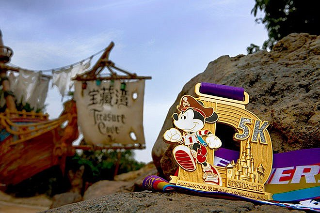 5kmクラスのメダル🥇 (C) Disney