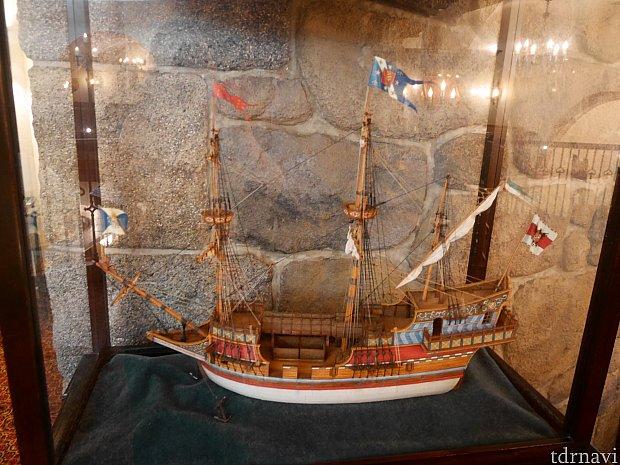 船の模型は複数ありました🚢
