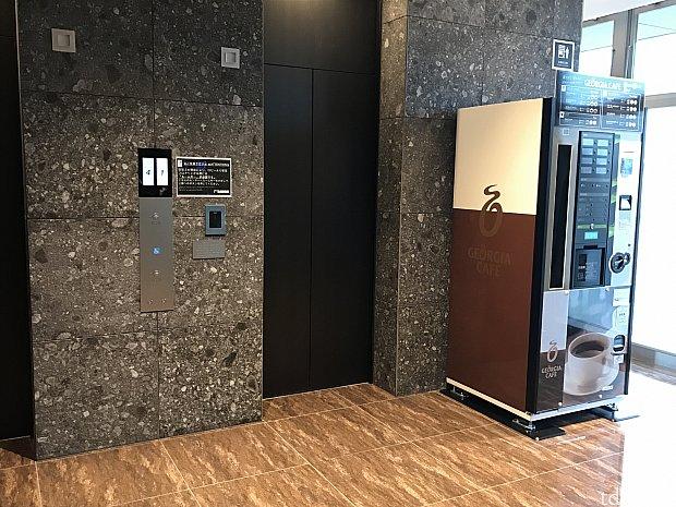 エレベーターは宿泊者専用のため、ルームキーをかざさないとボタンが押せない仕組みになっています。