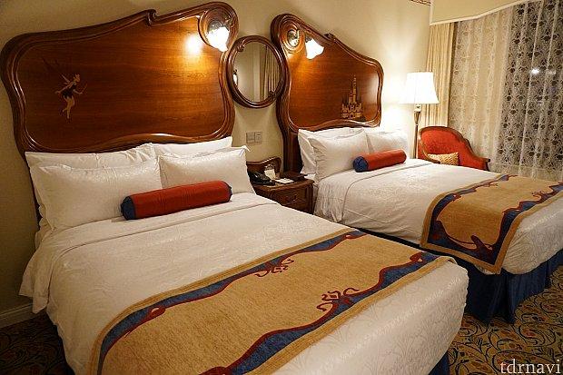 部屋のベッドは寝心地良かった。Tinkとcastle。