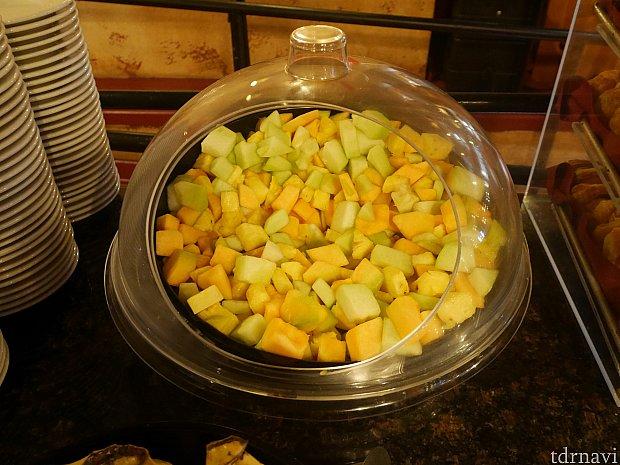 【朝食ブッフェ】 フルーツはメロンのみ