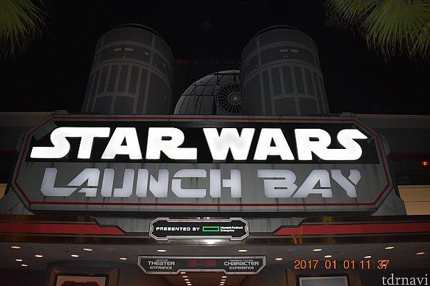 スターズローンチベイ前でチェックインでした!Star Wars Launch Bay