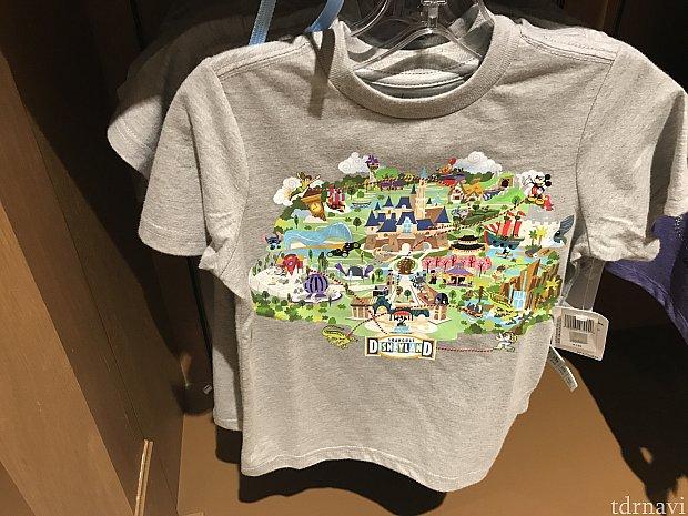 同じ柄のTシャツ。キッズサイズかな?