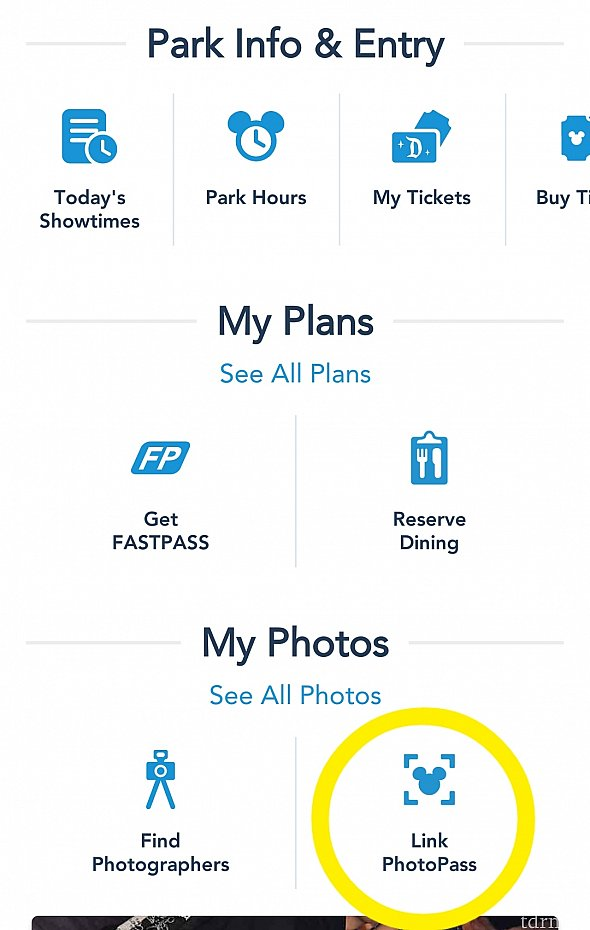 続いて、PhotoPassの利用方法です📷 アプリの『Link PhotoPass』をタップすると…