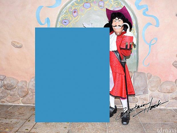 フック船長の写真にはサインが!