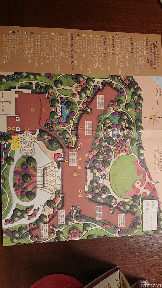 ホテルの日本語地図