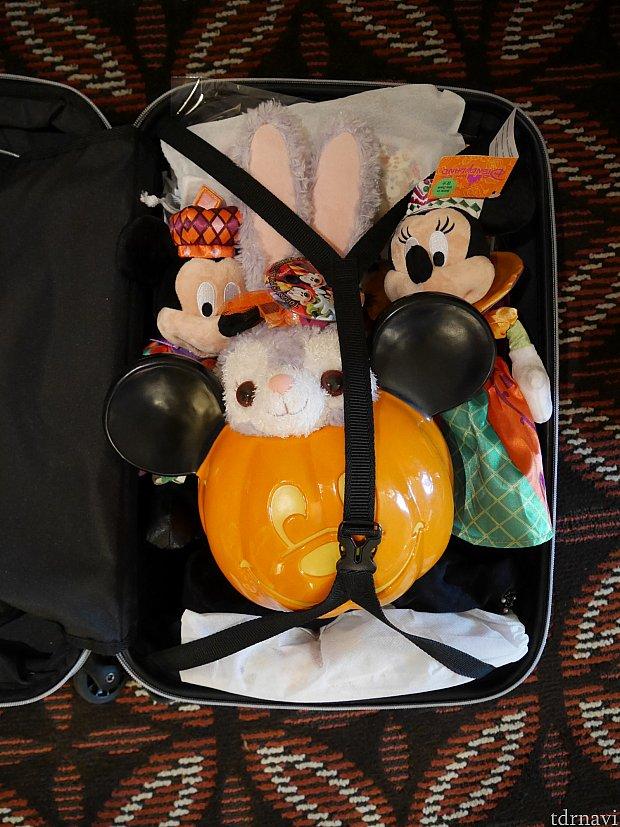 かぼちゃがなかなか大きくて持ち帰るのに一苦労です。LCCの方はお気をつけください。