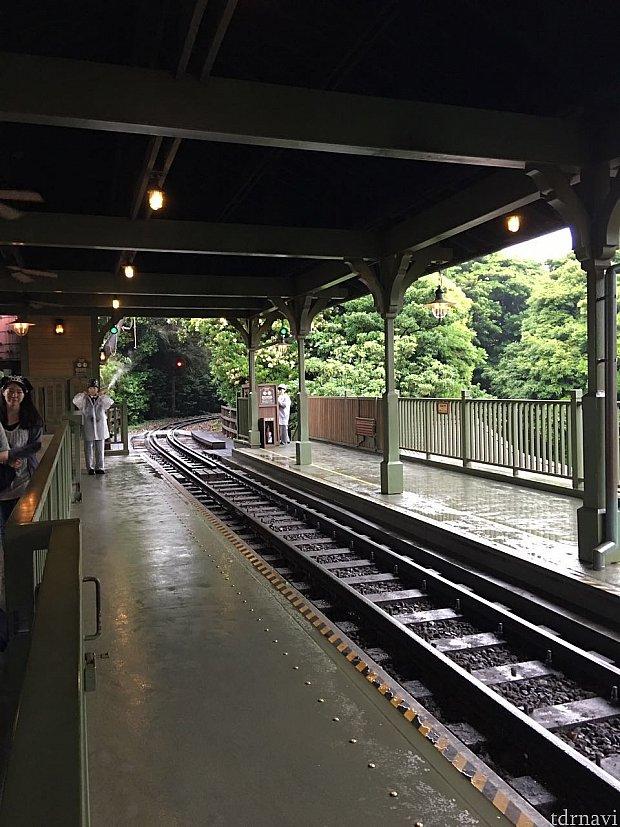 本格的な鉄道駅。