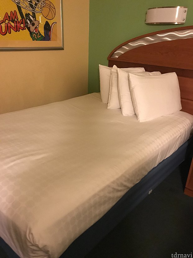 これが常駐のベッドです