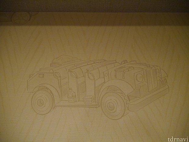 これは客室全体の壁紙です!インディーの乗り物です。
