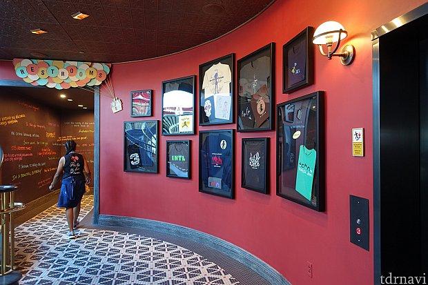 1階にもピクサー作品の展示がずらり。