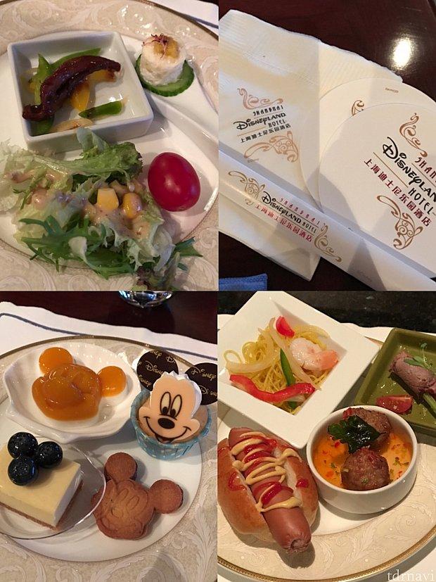 夜ご飯:コースター、ナプキン、ストローまでホテルのロゴ入り♪ストロー入れが厚紙で開けづらいです!笑