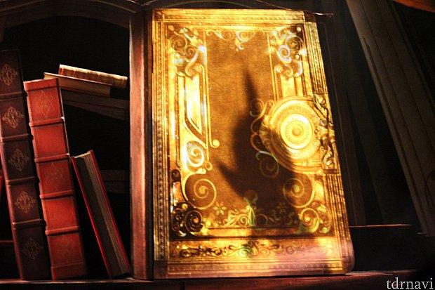 本の表紙を見ていると、見覚えがある影が・・・!