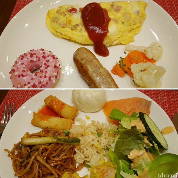 【朝食】好きな具を入れて作ってもらえるオムレツやフレッシュジュースもあります🎵お昼の分も食べる気持ちでモリモリ食べました😋