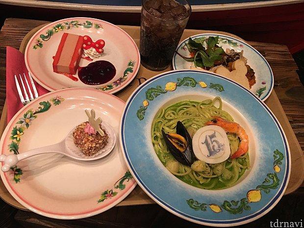15周年スペシャルセット2180円+スプーン付きプチケーキ°○°
