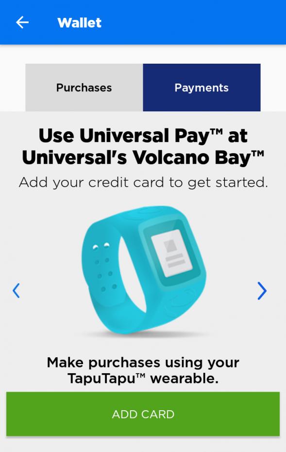 """Walletの説明に戻ります。""""ADD CARD""""を押すと、タプタプとリンクさせるクレジットカードの登録をすることができます。"""