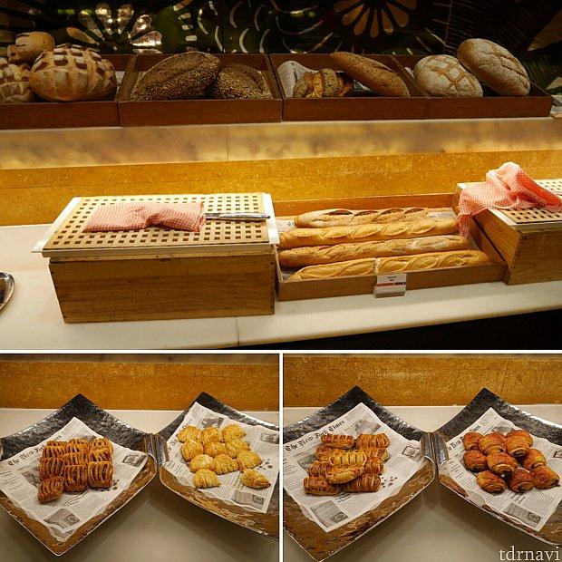 【朝食】パンはかなり種類がありました!
