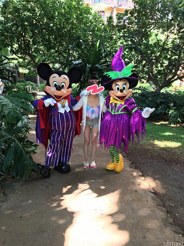 ヴァンパイアと魔女のミッキーミニー♪