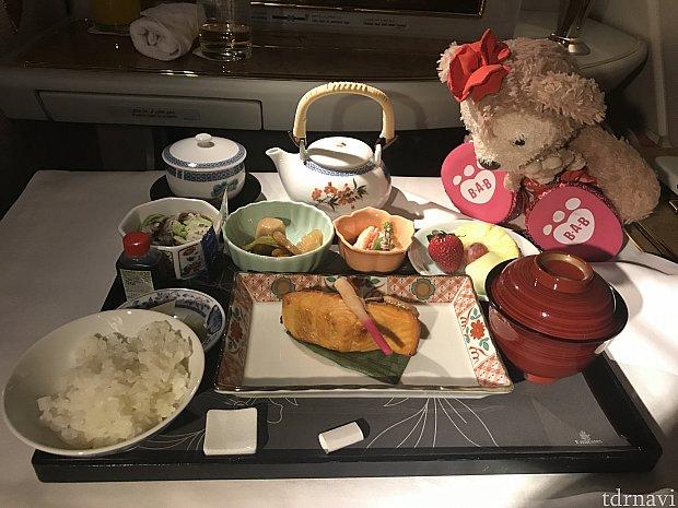 朝ごはんは日本食にしました(^o^)
