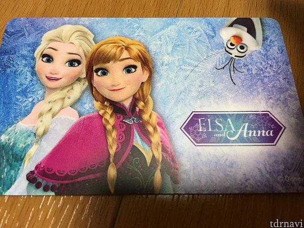 アナ雪の交通カード(おもて)