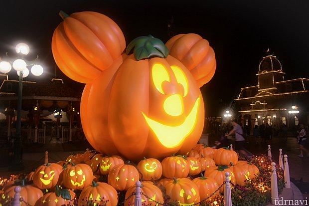 メインストリートUSAのかぼちゃ