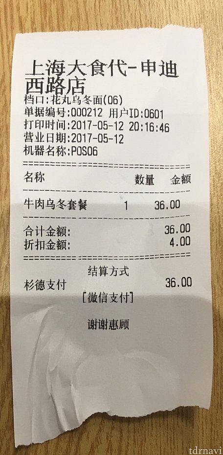 シーズナルパス割引きで40元➡️36元に!