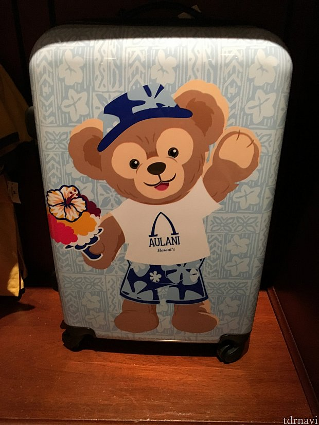 ダッフィー&シェリーメイのスーツケース(裏面にシェリーメイの絵が描いてあります)205ドル