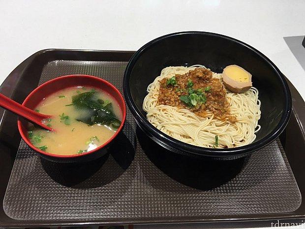 特制辣肉拌面@18元で味噌汁つき!美味しかった〜😍