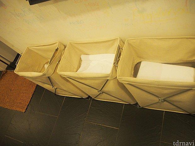 タオルが足りなかったら廊下にあります。