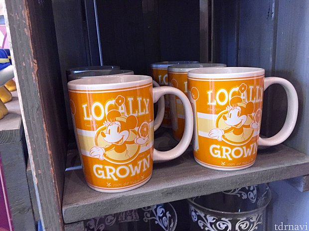 こちらも同じくフロリダ産オレンジ風のマグカップ。ミッキー&ミニーで揃えられます。