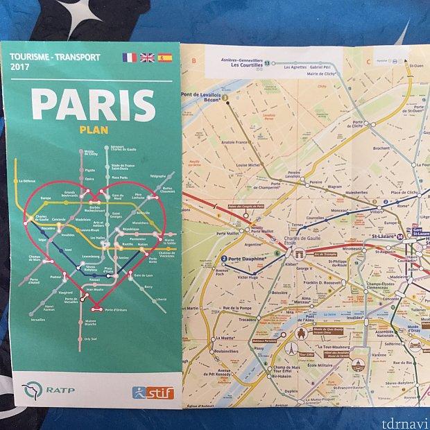 駅で地下鉄マップをもらいましょう