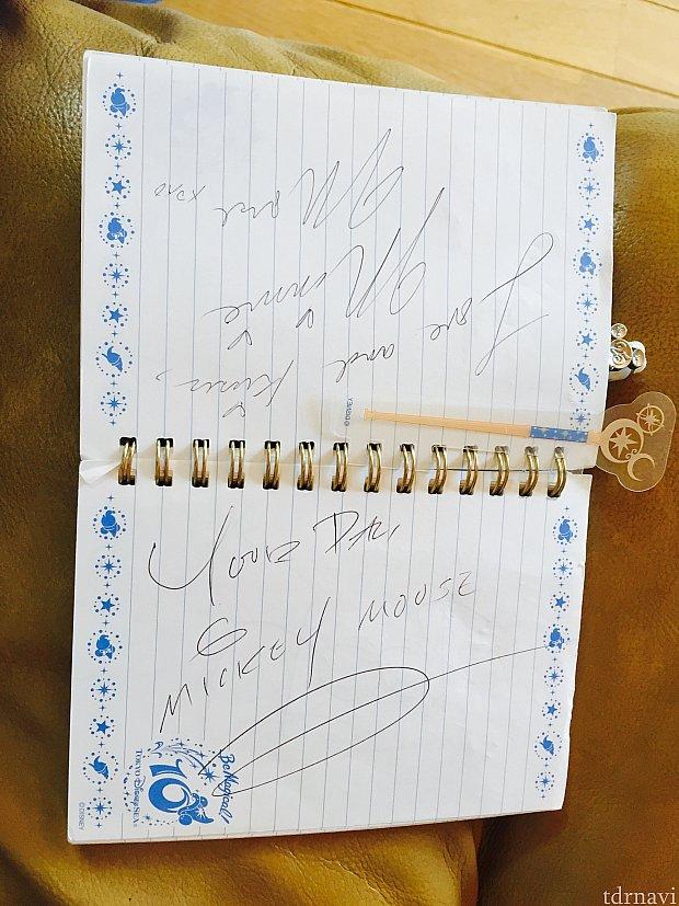 ミッキーとミニーのサイン
