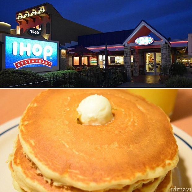 ホテルとパーク間のレストラン③「IHOOP」パンケーキが気になって気になって…笑おいしかったです。