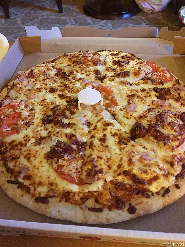 出来たピザ