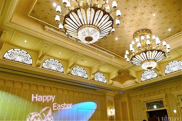 シンデレラドリームⅠという会場でした!Happy Easter って書いてある~!!(もう既に興奮)