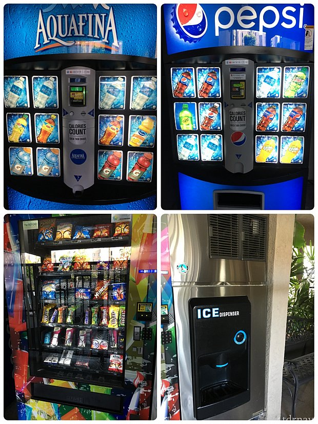 自動販売機で売られていたものと、製氷機。