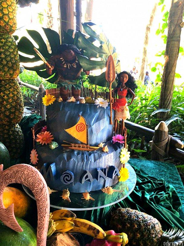 マウイとモアナのケーキ