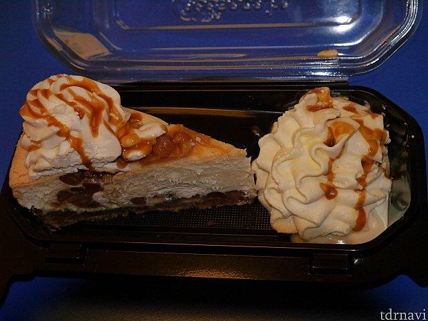 ホワイトチョコレートキャラメルマカダミアナッツチーズケーキ!