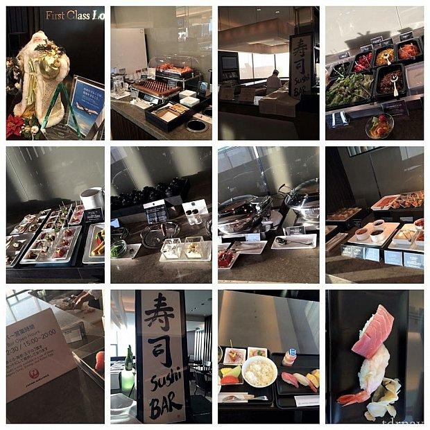 成田JALファーストラウンジでお寿司を食べました🍣