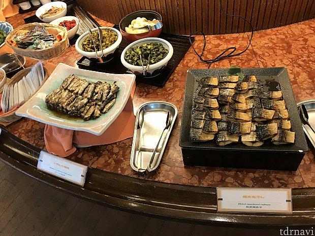 朝食です。鯖など和食もありました。