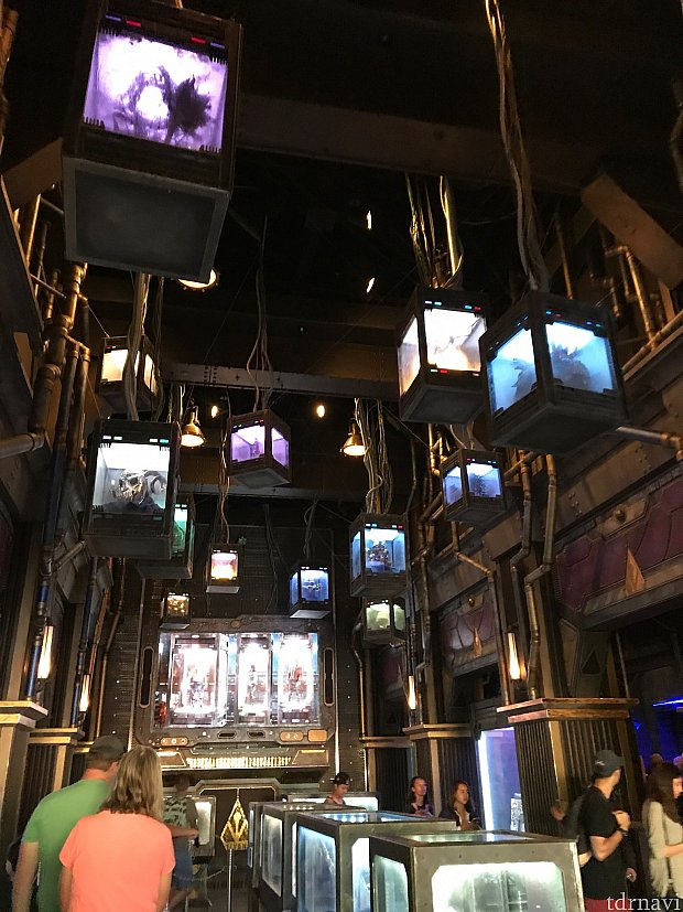 中に入るとさまざまなコレクションがたくさん!1番奥には映像が流れています。