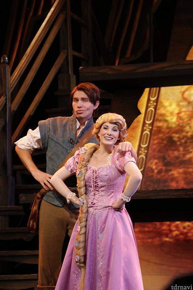ラプンツェルはフリンと一緒に出てきますが、他のプリンセスはソロ出演です