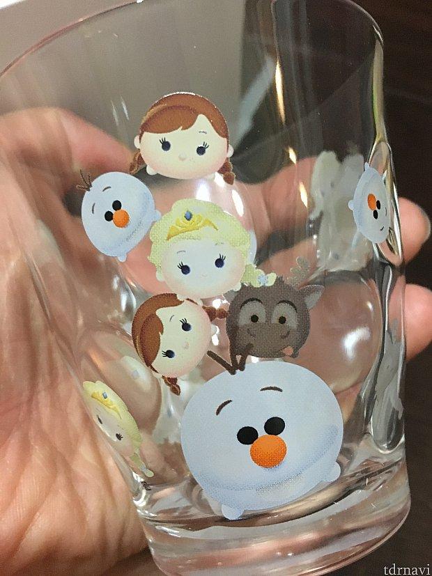 かわいらしいアナ雪グラス!!