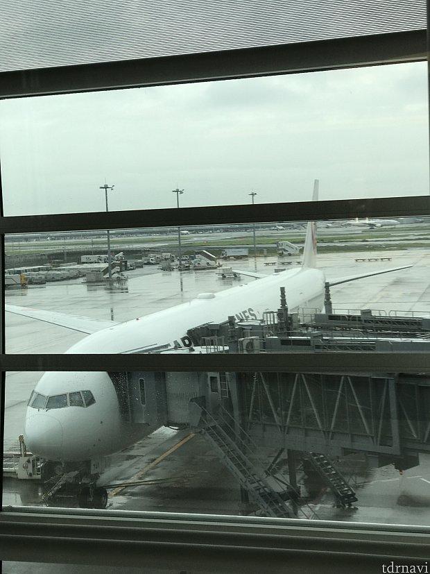 羽田発のパリ行き飛行機。 777です。