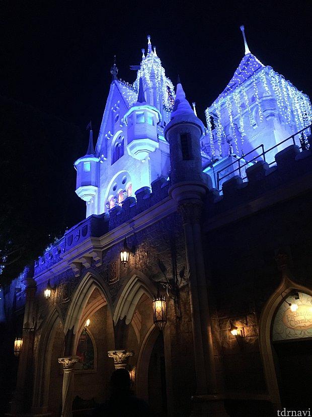 裏からのお城