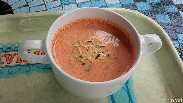 ポテトとトマトの冷製クリームスープ